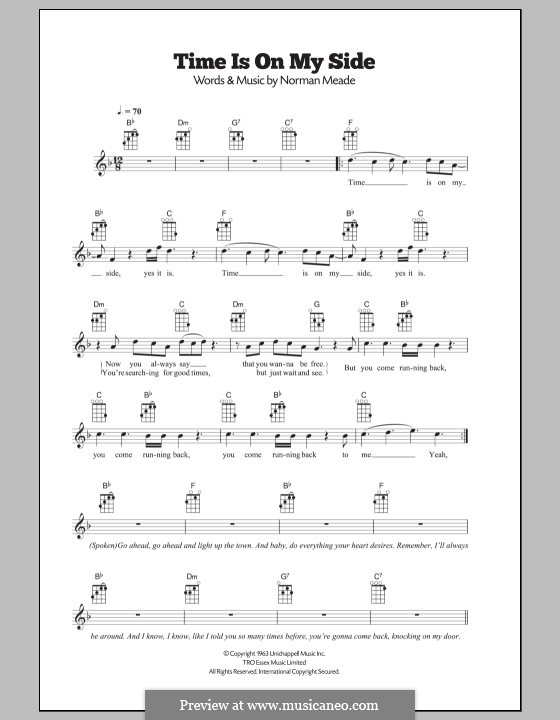Time is on My Side (The Rolling Stones): para ukulele by Jerry Ragovoy