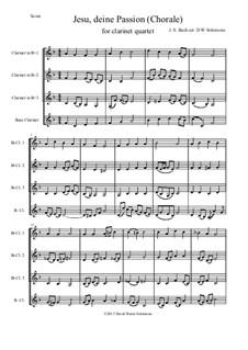 Jesu, deine Passion: para quarteto de clarinete by Johann Sebastian Bach