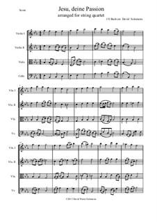Jesu, deine Passion: para quartetos de cordas by Johann Sebastian Bach