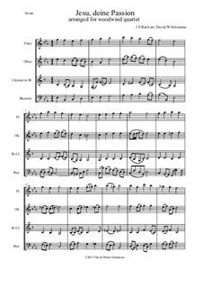 Jesu, deine Passion: Para quarteto de sopro by Johann Sebastian Bach