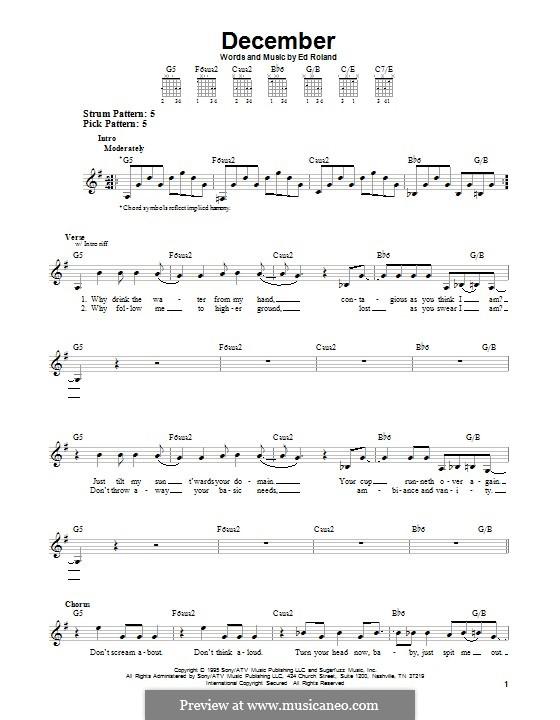 December (Collective Soul): Para guitarra com guia by Ed Roland