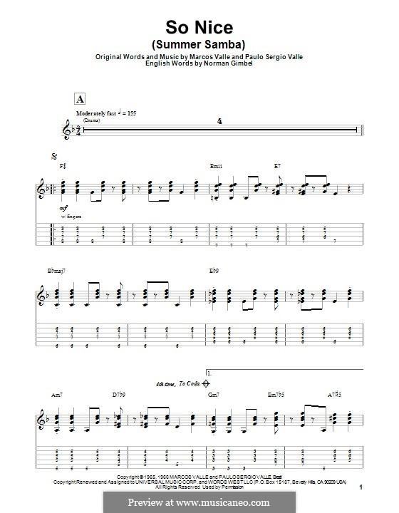 So Nice (Summer Samba): Para guitarra com guia by Marcos Valle, Paulo Sergio Valle