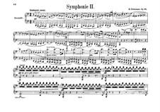 Symphony No.2 in C Major, Op.61: versão para piano de quatro mãos by Robert Schumann