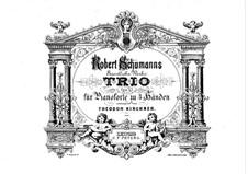 Piano Trio No.1 in D Minor, Op.63: versão para piano de quatro mãos by Robert Schumann