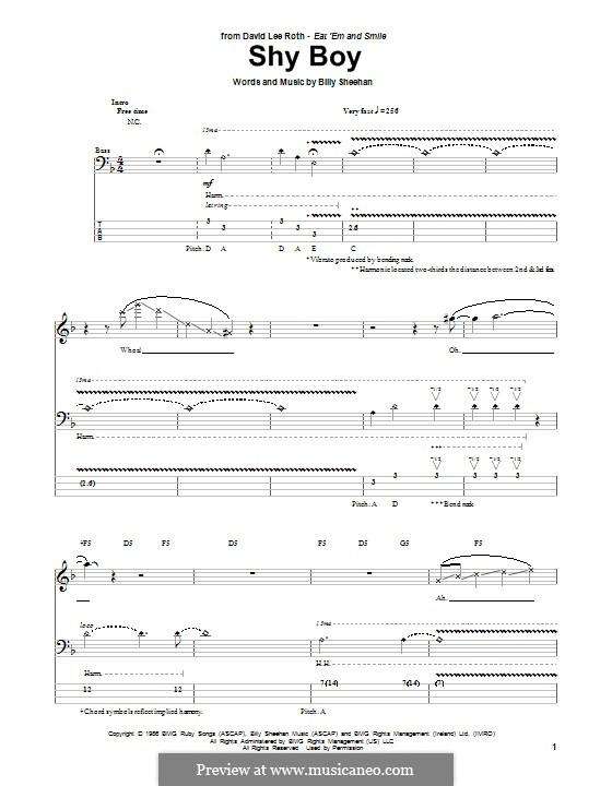 Shy Boy: para baixo com guia by Billy Sheehan