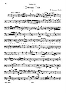 Piano Trio No.2 in F Major, Op.80: parte violoncelo by Robert Schumann