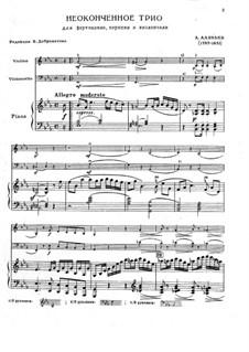Неоконченное трио: Неоконченное трио by Alexander Alyabyev