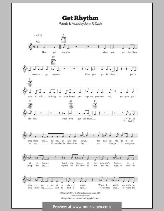 Get Rhythm: para ukulele by Johnny Cash
