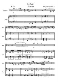 Scherzo, Op.60: partitura para dois musicos by Nino Janjgava