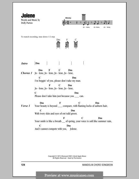 Jolene: For mandolin by Dolly Parton