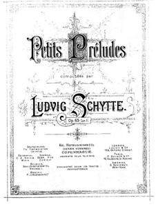 Little Preludes, Op.65: livro II by Ludvig Schytte
