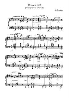 Sonata for Piano No.3, Op.23: movimento I by Alexander Scriabin