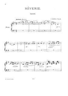 Rêverie, Op.24: para piano de quadro mãos by Alexander Scriabin