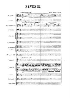 Rêverie, Op.24: Partitura completa by Alexander Scriabin