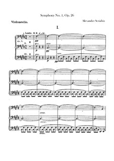 Symphony No.1 in E Major, Op.26: Parte Violoncelo by Alexander Scriabin