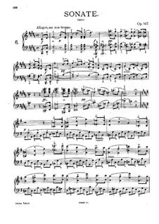 Sonata for Piano No.9 in B Major, D.575 Op.147: para um único musico (Editado por H. Bulow) by Franz Schubert
