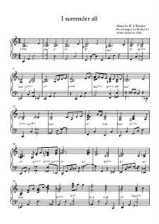 I Surrender All: For gospel jazz piano by Winfield Scott Weeden