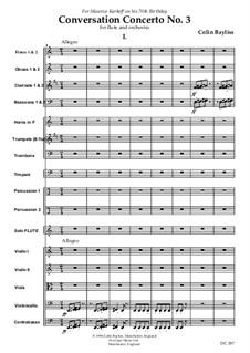 Flute Concerto (Conversation Concerto No.3): partes by Colin Bayliss