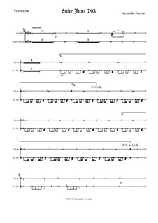 8nde Juni 793: parte percusão by Alexander Nævdal