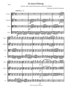 In einen Harung: para quartetos de cordas by folklore, David W Solomons
