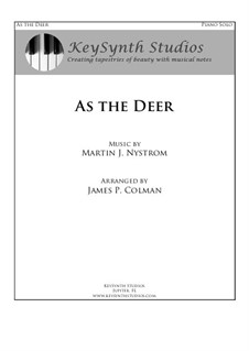 As the Deer: Para Piano by Martin Nystrom