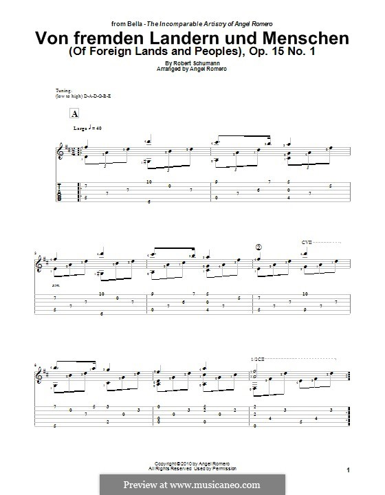 No.1 Of Strange Lands and Peoples: Para Guitarra by Robert Schumann