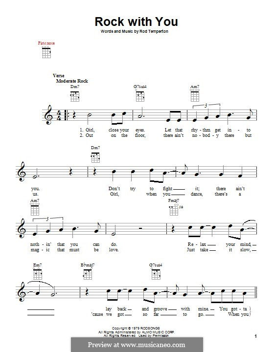 Rock with You (Michael Jackson): Para Guitarra by Rod Temperton