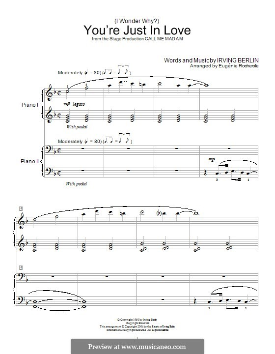 (I Wonder Why?) You're Just in Love: Para Piano by Irving Berlin