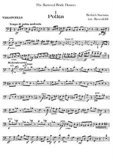 Three Dances: parte violoncelo by Bedřich Smetana