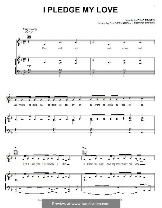 I Pledge My Love (Peaches and Herb): Para vocais e piano (ou Guitarra) by Dino Fekaris, Freddie Perren