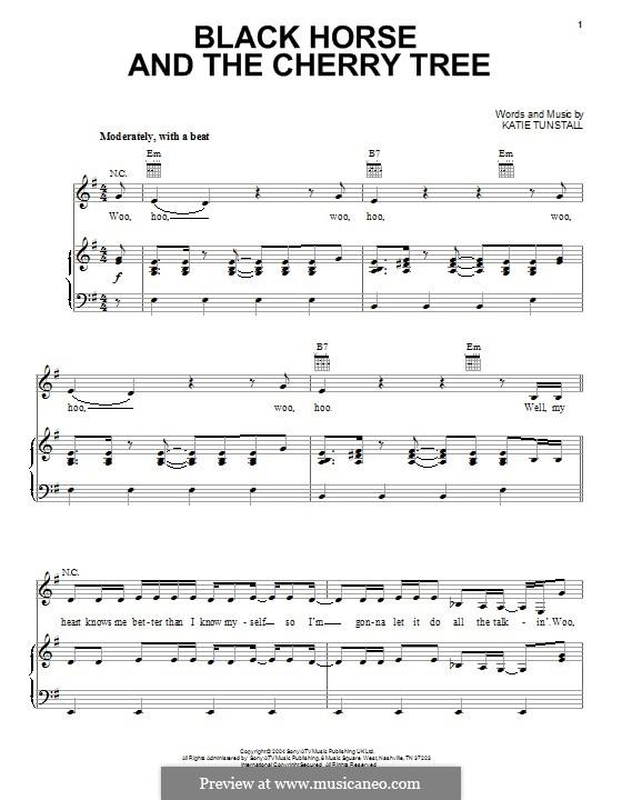Black Horse and the Cherry Tree: Para vocais e piano (ou Guitarra) by KT Tunstall