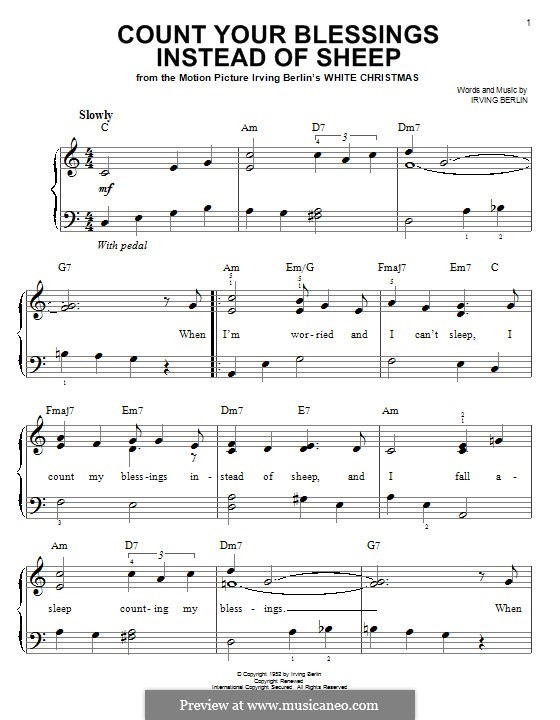 Count Your Blessings Instead of Sheep: Para Piano by Irving Berlin
