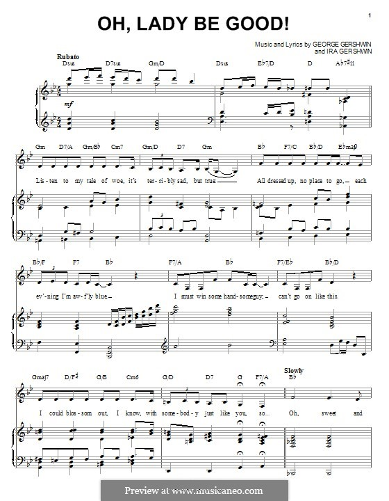 Oh, Lady, Be Good: For voice and piano (Ella Fitzgerald) by George Gershwin