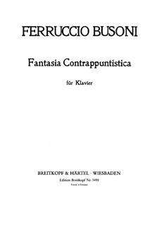 Contrapuntal Fantasia: Para Piano, BV 256 by Ferruccio Busoni