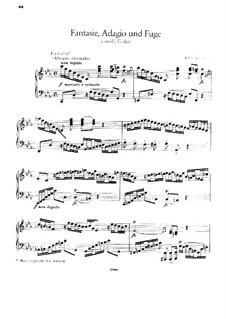 Fantasia, Adagio and Fugue: Para Piano by Johann Sebastian Bach