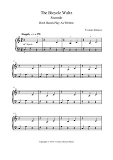 The Bicycle Waltz - A Level 1 Piano duet: The Bicycle Waltz - A Level 1 Piano duet by Yvonne Johnson