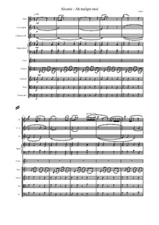 Alceste, Wq.44: Ah malgre moi, score and parts by Christoph Willibald Gluck