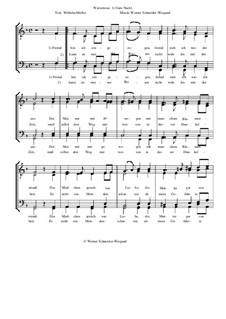 Winterreise, Nr.26-97, Op.23: Nr.28 Gute Nacht by Werner Schneider-Wiegand