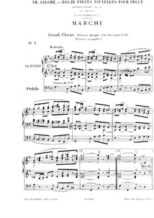 Twelve Pieces-Novellas for Organ, Op.59: No.1 Marche by Théodore Salomé