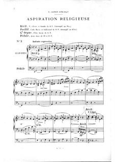 Twelve Pieces-Novellas for Organ, Op.59: No.2 Aspiration religieuse by Théodore Salomé