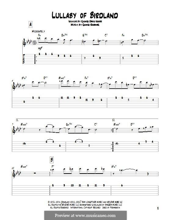 Lullaby of Birdland (Ella  Fitzgerald): Para guitarra com guia by George Shearing