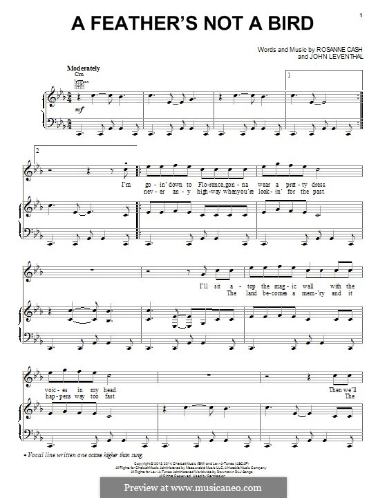 A Feather's not a Bird: Para vocais e piano (ou Guitarra) by John Leventhal, Rosanne Cash