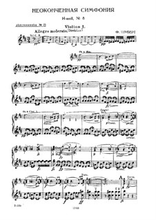 Symphony No.8 in B Minor 'Unfinished', D.759: Partes by Franz Schubert