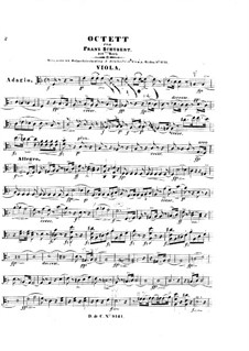 Octet for Strings and Winds in F Major, D.803 Op.166: parte viola by Franz Schubert