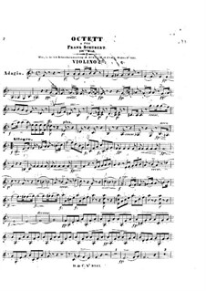 Octet for Strings and Winds in F Major, D.803 Op.166: violino parte II by Franz Schubert