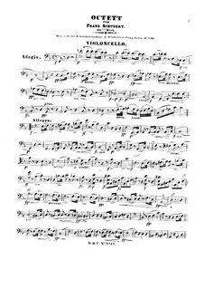 Octet for Strings and Winds in F Major, D.803 Op.166: parte violoncelo by Franz Schubert