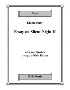 Silent Night, for Piano: For elementary level piano by Franz Xaver Gruber