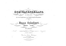 Songs No.7-14: Songs No.7-14 by Franz Schubert