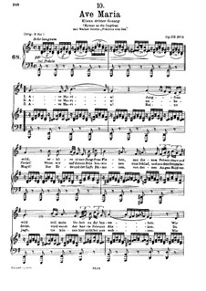Ave Maria (Piano-vocal score), D.839 Op.52 No.6: For voice and piano in G Major (German Text) by Franz Schubert