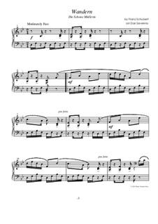 No.1 Das Wandern (Wandering): Para Piano by Franz Schubert